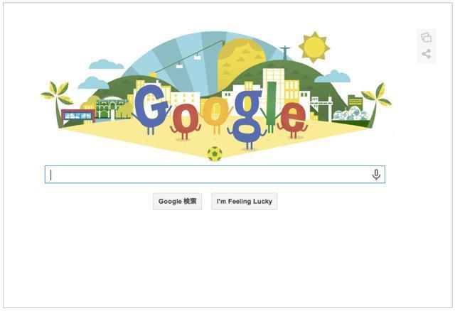 本日のGoogleロゴ『ワールドカップ 2014開幕』仕様に!