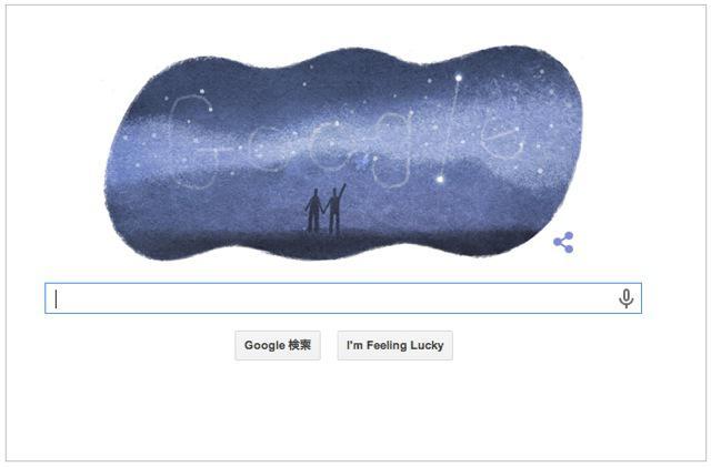 本日(2014年7月7日)Googleロゴ『七夕』仕様に!