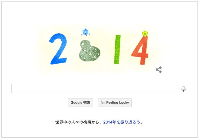 本日(2014年12月31日)Googleロゴ『大晦日!良いお年を!』アニメーション仕様に!