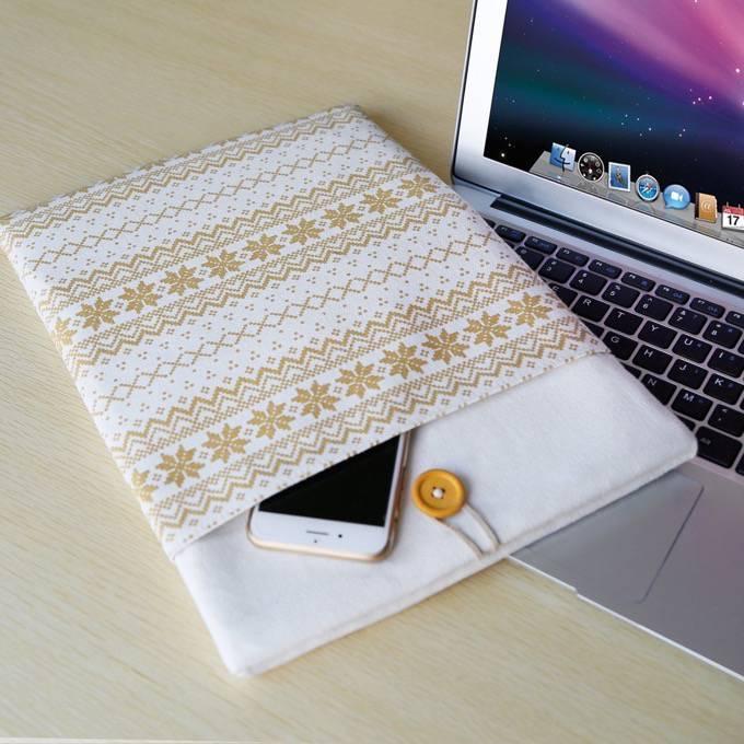 これイイ!持ち運びに安心!Inateck製「MacBook用保護バッグボヘミアンキャンバス インナーケース」
