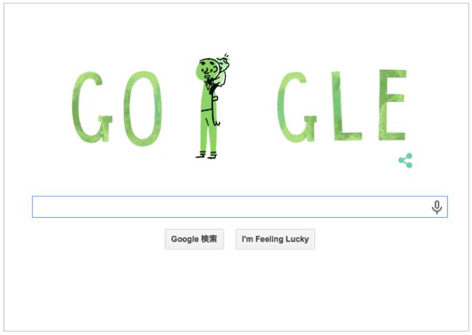 本日(2015年6月21日)Googleロゴ 『父の日 おめでとう!』アニメーションロゴに!