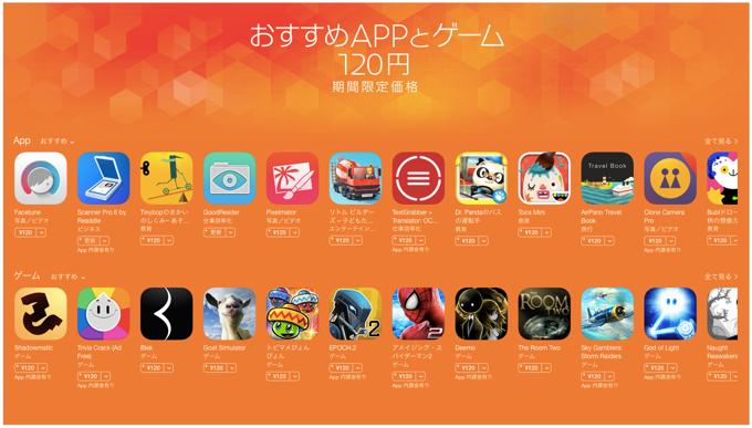 App Store「おすすめAPPとゲーム」120円期間限定セール!Pixelmatorが120円に!