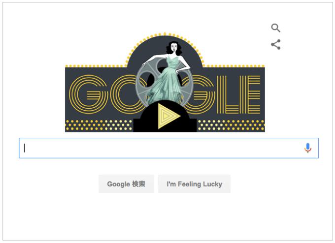 Googleロゴ 女優 発明家『ヘディ・ラマー』生誕101年