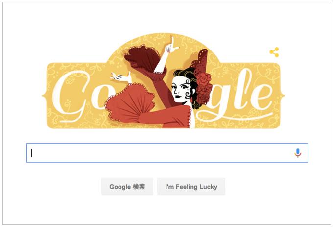 本日(2016年1月21日)Googleロゴ「ロラ フローレス 生誕 93 周年」仕様に!
