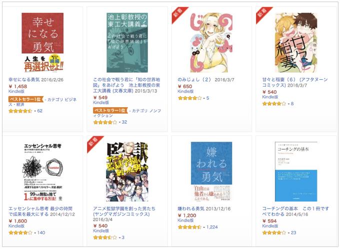 Amazon Kindleストア19,962作品を対象とした「最大20%ポイント還元セール」